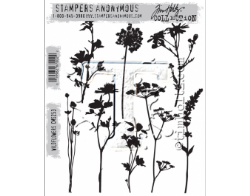 CMS253 Stampers Anonymous Tim Holtz Cling Mounted Stamp Set - Wildflowers